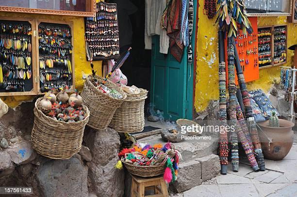 Des objets artisanaux traditionnels du Pérou