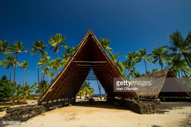 Traditional Hawaiian Building on Pu'uhonua O Honaunau National Historical Park