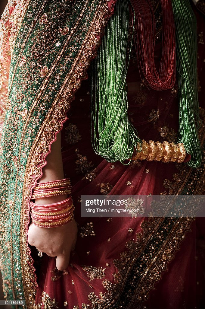 Traditional Hindu Wedding Dress Stock Foto Getty Images