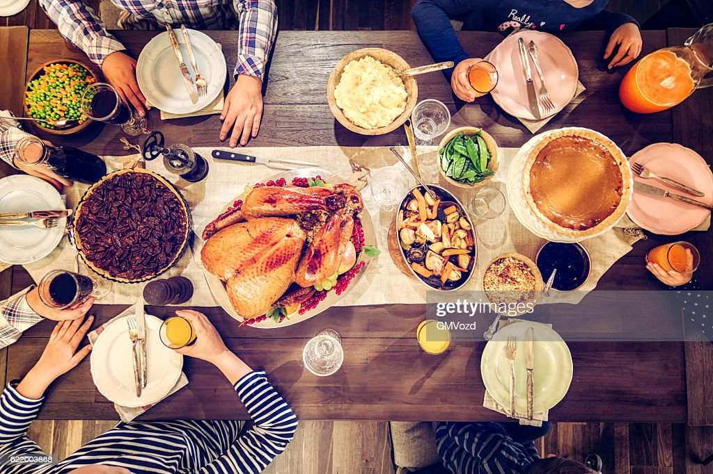 Traditional Holiday Stuffed Turkey Dinner : Stock Photo