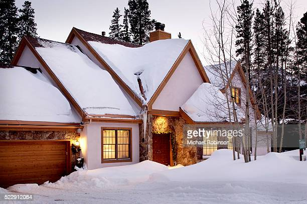 Traditional Home in Winter