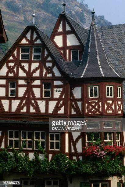 Traditional house in Bacharach RhinelandPalatinate Germany