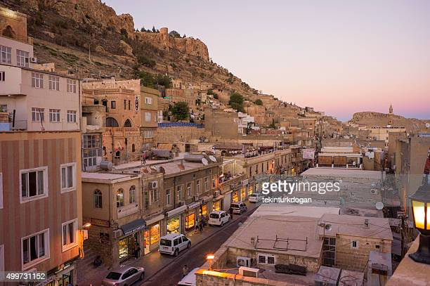 traditional houses at narrow street of middleeastern town mardin turkey