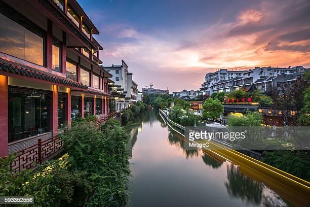 Traditional Houses Beside the Qinhuai River of Nanjing
