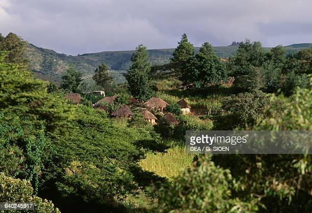 Traditional houses Chimanimani National Park Zimbabwe