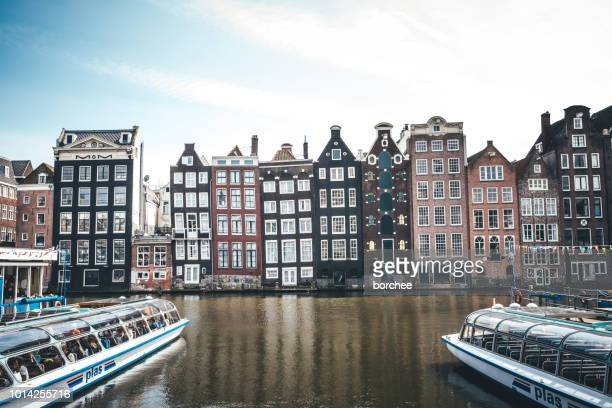 Traditionele huizen in Amsterdam