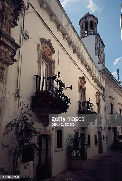 Traditional houses in Via Morelli Locorotondo Le Murge Apulia Italy