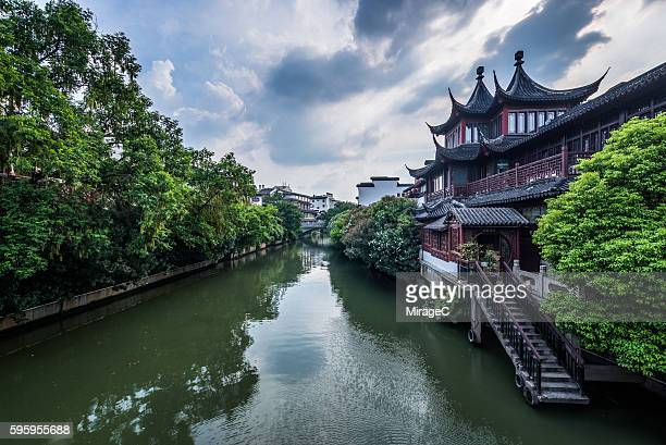 Traditional Houses on the Bank of Qinhuai River in Nanjing