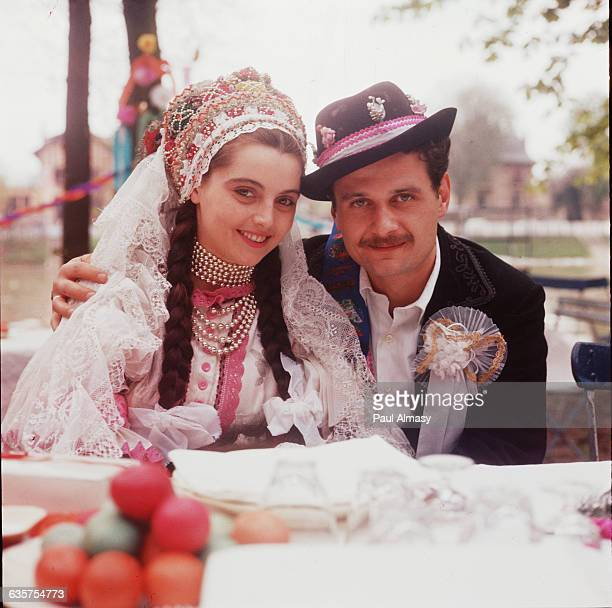 Traditional Hungarian Bride and Groom