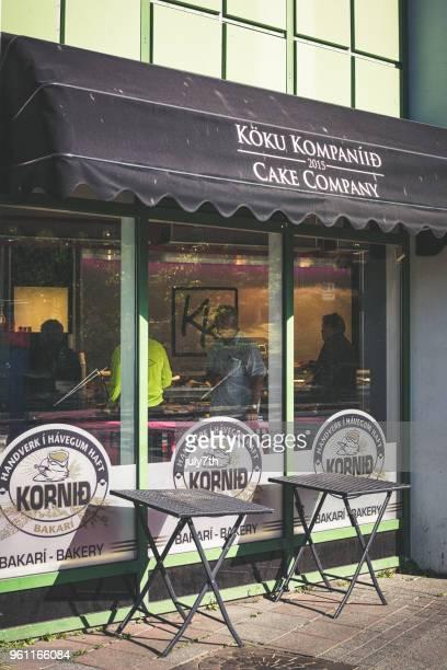 Traditional Icelandic Bakery Shop in Reykjavik