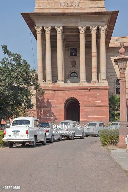 traditional indian government car called ambasador at new delhi india - india politics stock pictures, royalty-free photos & images