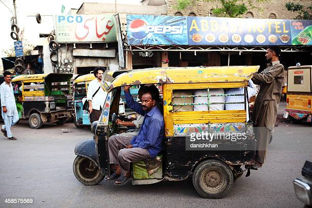 Traditional Indian Style Rickshaws in Saddar Karachi