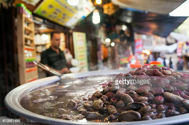 Traditional Iranian dish in a food stall