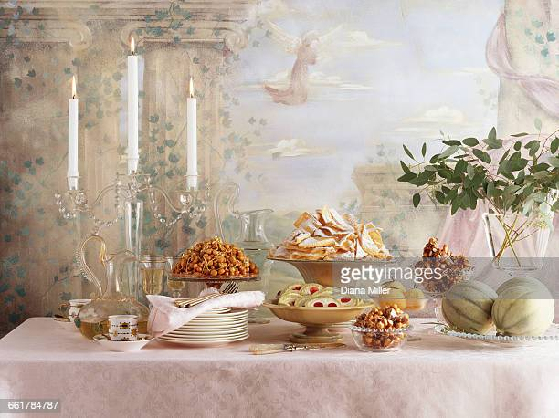 Traditional Italian christmas dessert feast