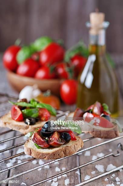 Traditional Italian crostini