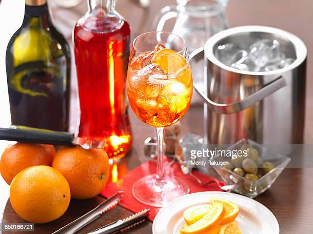 Traditional Italian drink Aperol Spritz