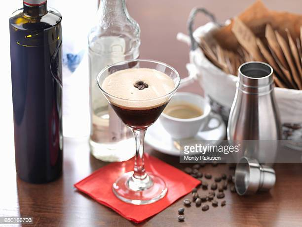 traditional italian drink, the espresso martini - espresso stock photos and pictures