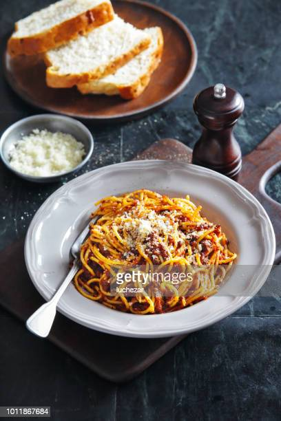 traditional italian meal spaghetti alla bolognese - comfort food stock pictures, royalty-free photos & images
