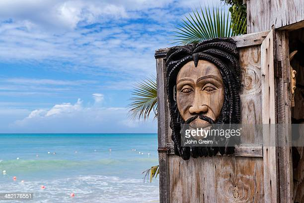 Traditional Jamaican wood carvings