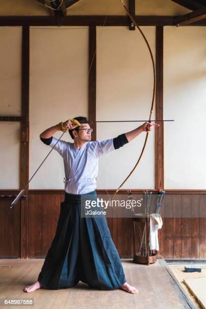 伝統的な日本のアーチャー狙い