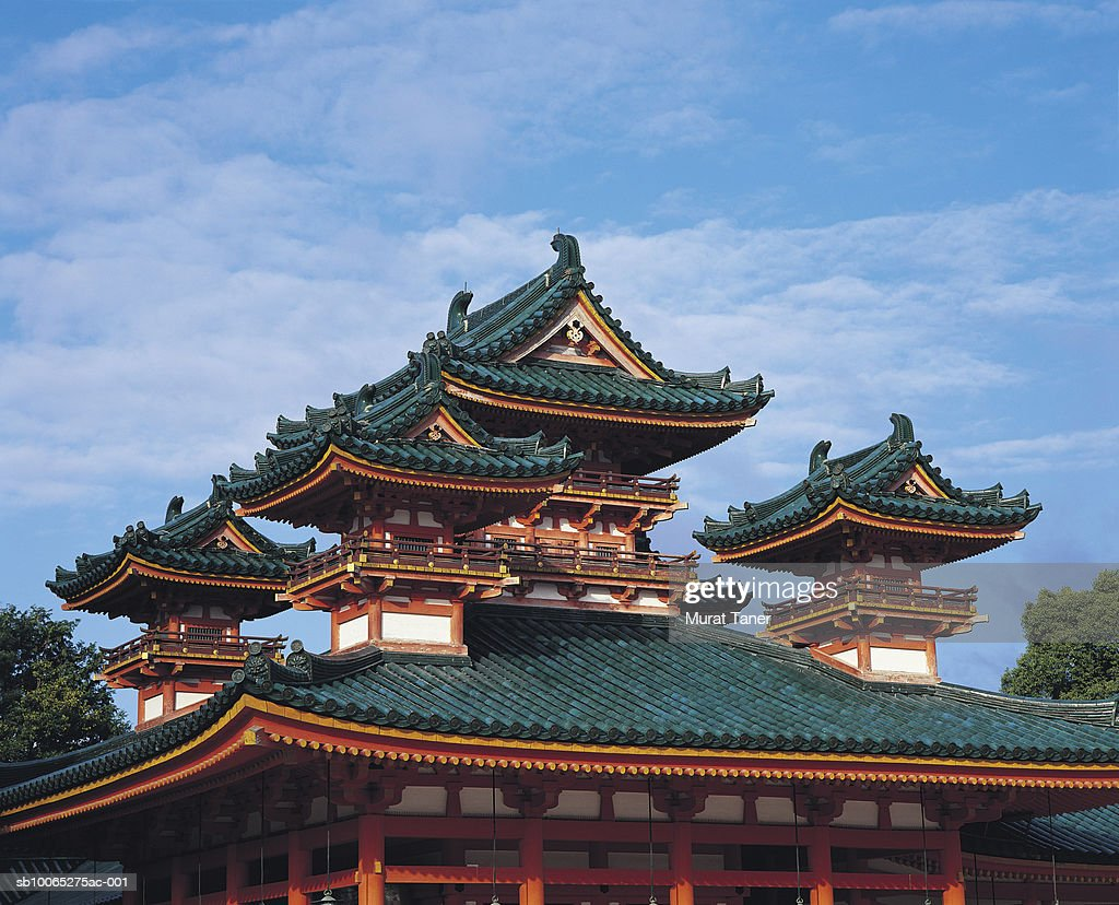 Traditional Japanese architecture, Heian Shrine : Foto stock