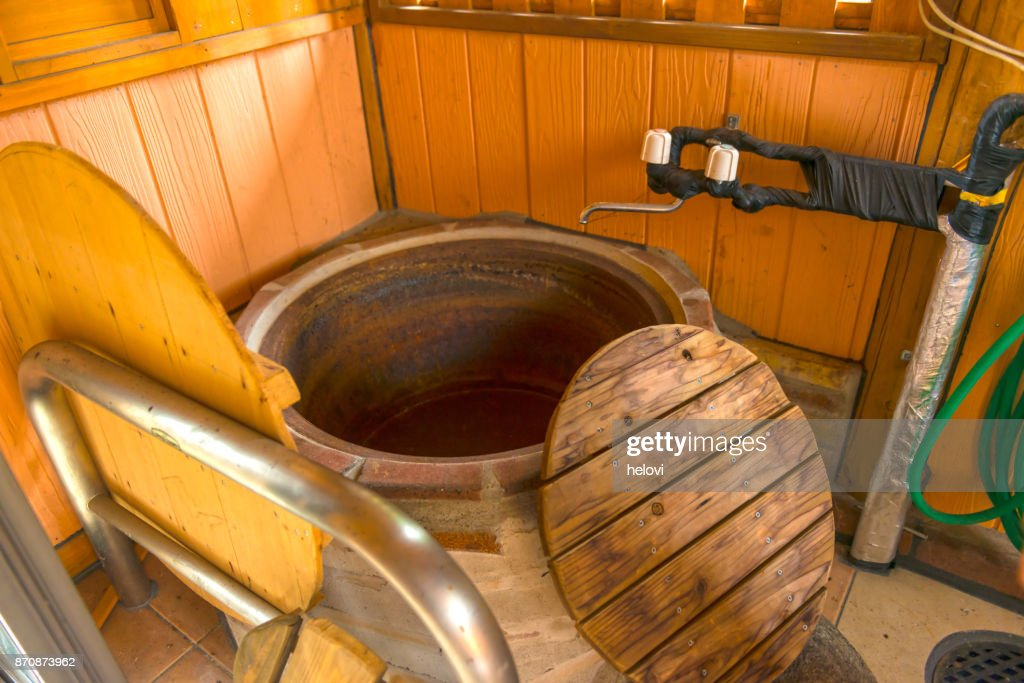 Traditional Japanese Bath Tub Stock Photo | Getty Images