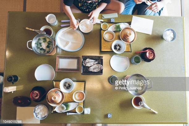 traditional japanese breakfast - peter lourenco stock pictures, royalty-free photos & images