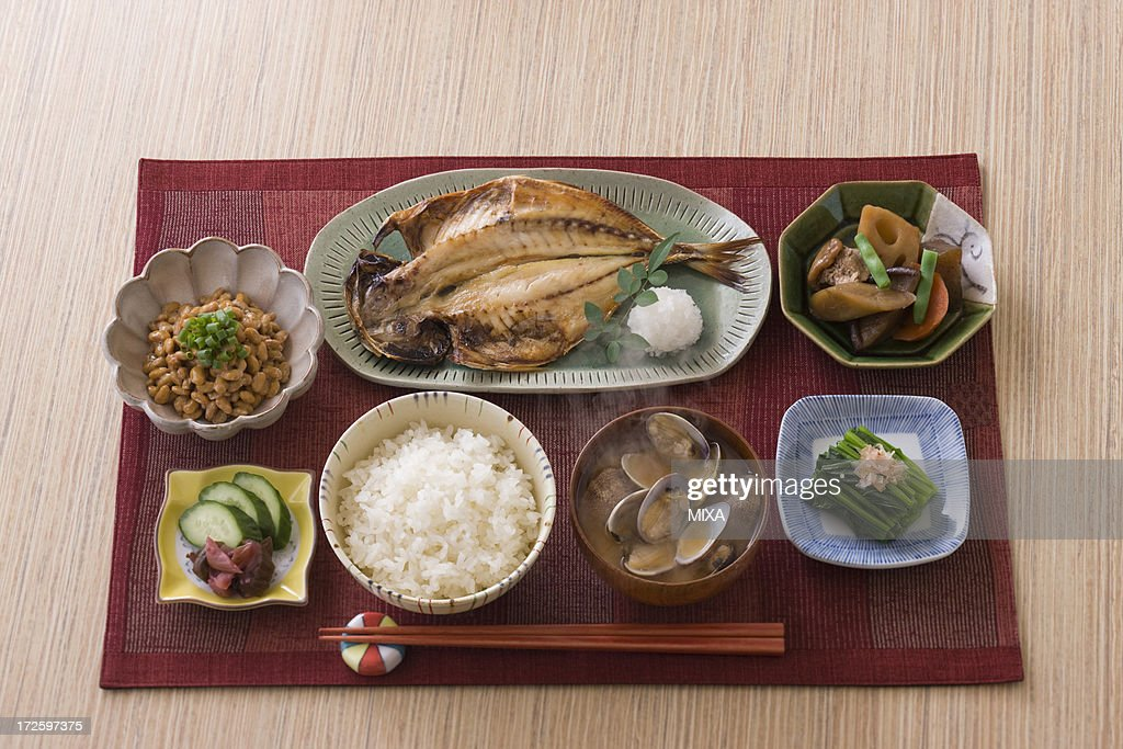 Traditional Japanese Breakfast : Stock Photo
