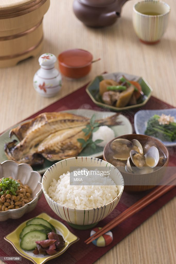 Traditional Japanese Breakfast : Stock Photo