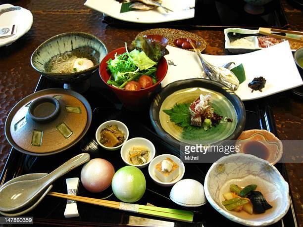 Traditional Japanese breakfast set