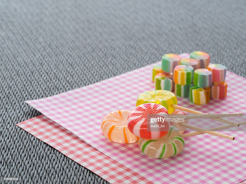 Traditional Japanese candy cake : Stock Photo
