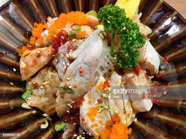Traditional Japanese Cuisine, Roasted Seafood Donburi, Sashimi Donburi, Rice Bowl Dish