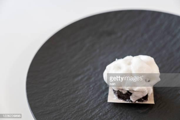 traditional japanese dessert, sweet red bean snow ball - 和菓子 ストックフォトと画像