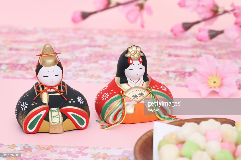 Traditional Japanese dolls for festival : Stock Photo