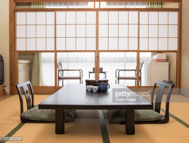 traditional japanese flat in kyoto - 日本建築 ストックフォトと画像