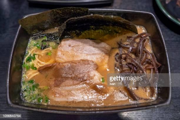 traditional japanese food, ramen - japanische küche stock-fotos und bilder