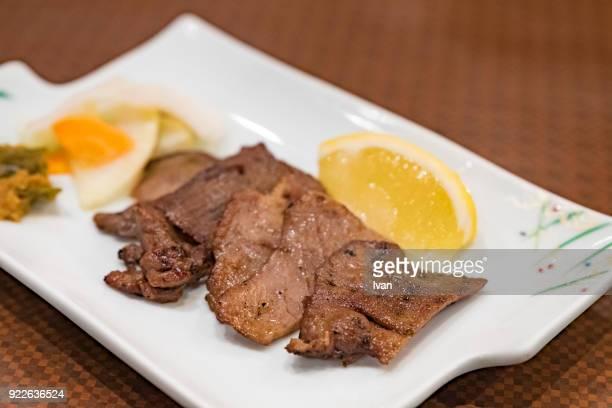 Traditional Japanese Food, Sendai, Roasted, Grilled Beef Tongue, Ox-tongue, Gyutan, Cow Tongue