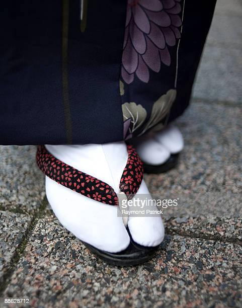 Traditional Japanese kimono,