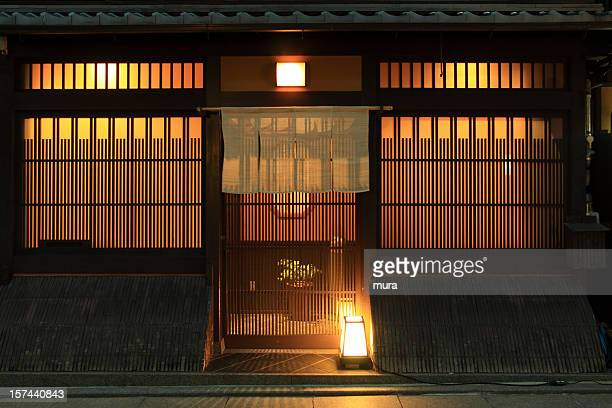 traditional japanese restaurant - japanese culture stock pictures, royalty-free photos & images
