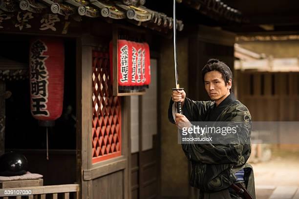 Traditional Japanese Ronin Samurai