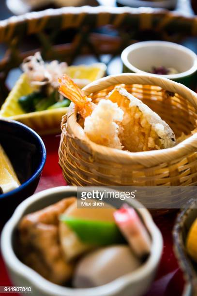 traditional japanese set meal - washoku fotografías e imágenes de stock