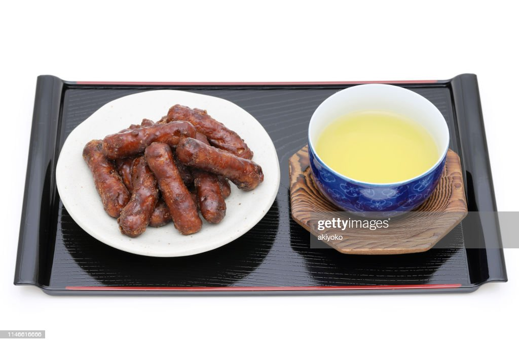 Traditional Japanese snack food, Karinto cookies : Stock Photo
