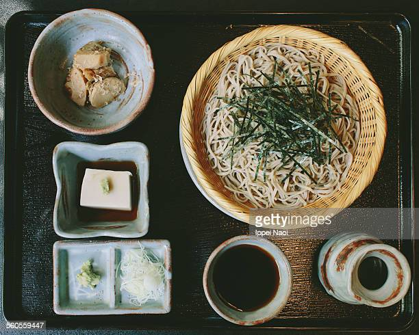 Traditional Japanese soba noodle lunch