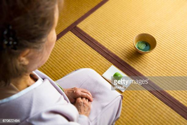 traditional japanese tea ceremony,sado - social grace stock pictures, royalty-free photos & images