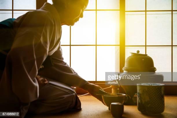 伝統的な日本の茶道、佐渡