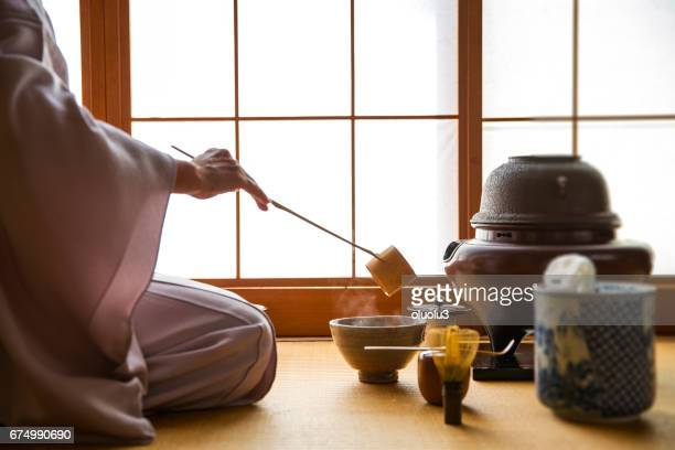 traditional japanese tea ceremony,sado - ceremony stock pictures, royalty-free photos & images