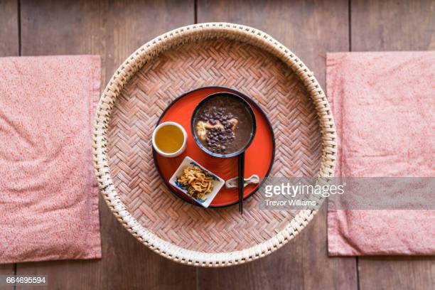 Traditional Japanese zenzai or sweet red bean porridge