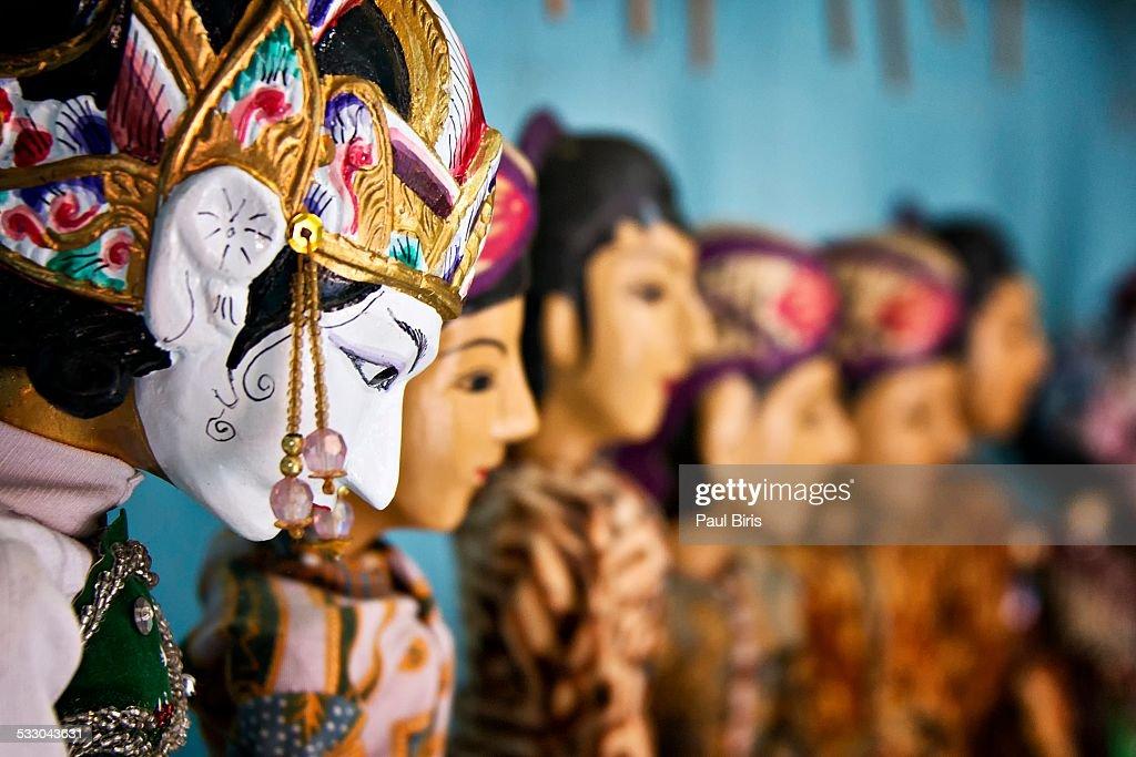 Traditional Javanese Puppet Wayang Golek : Stock Photo