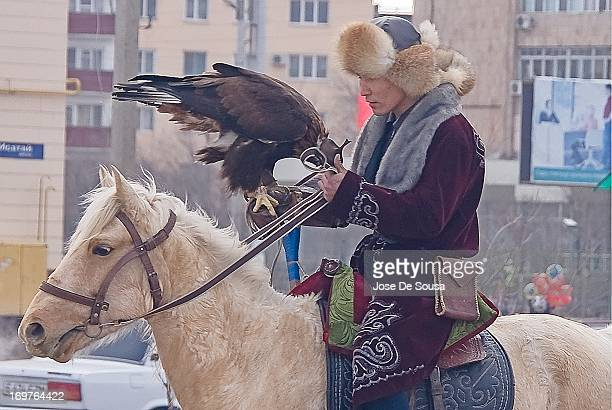 CONTENT] Traditional Kazakh Hunter with his Eagle during the celebration of Nauryz