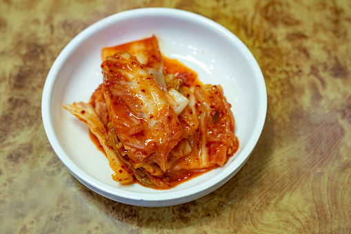Traditional Korean Food, Cousin, Plate full of Kimchi - gettyimageskorea